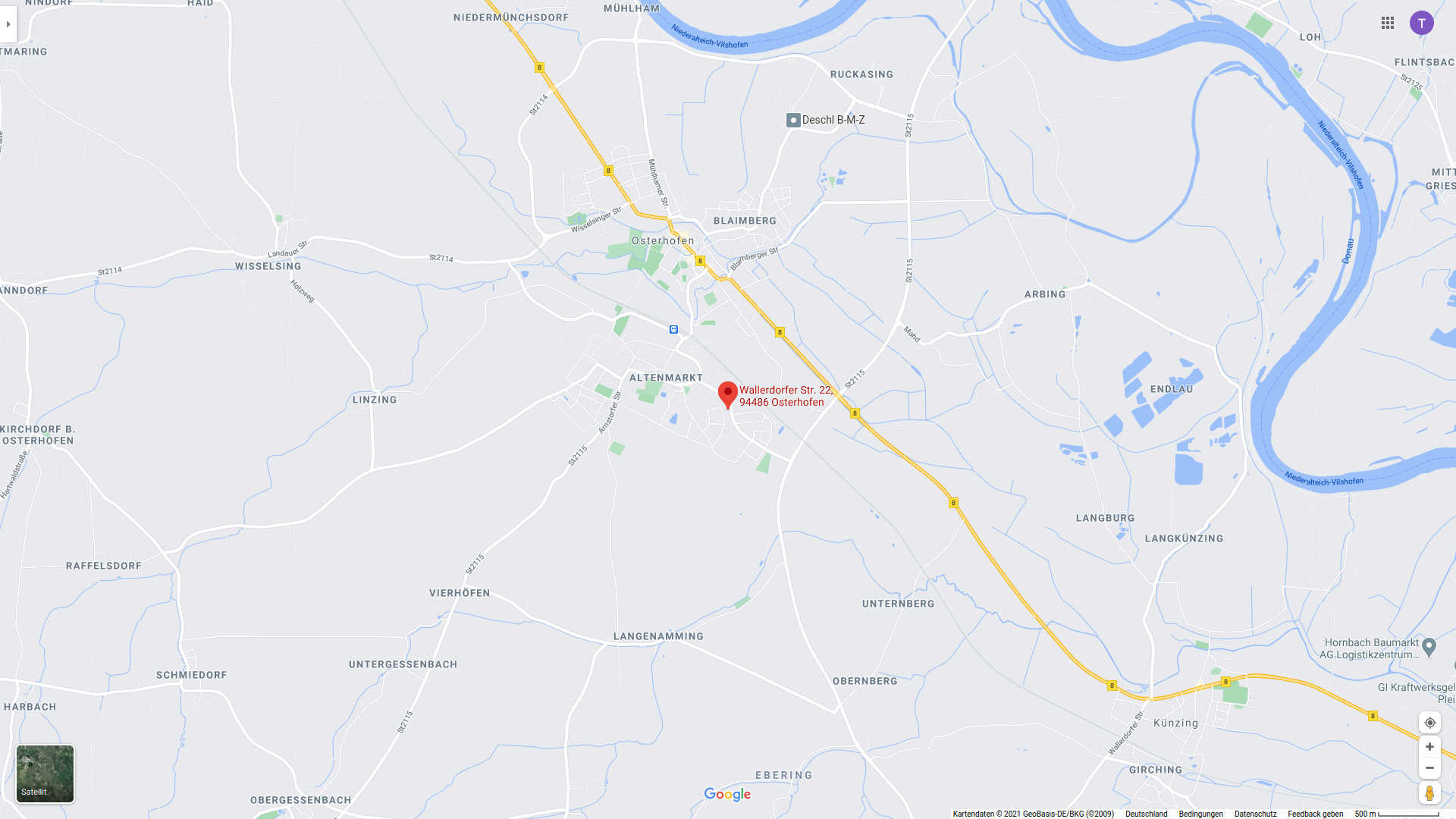 Cemsys Google map location